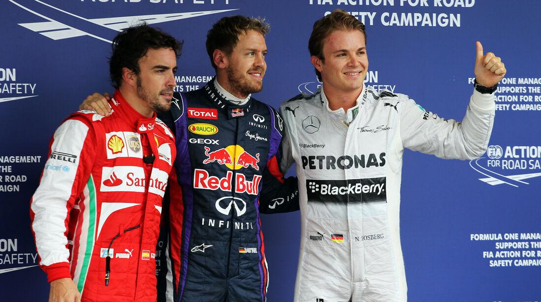 Alonso, Vettel & Rosberg - GP Brasilien - 23. November 2013