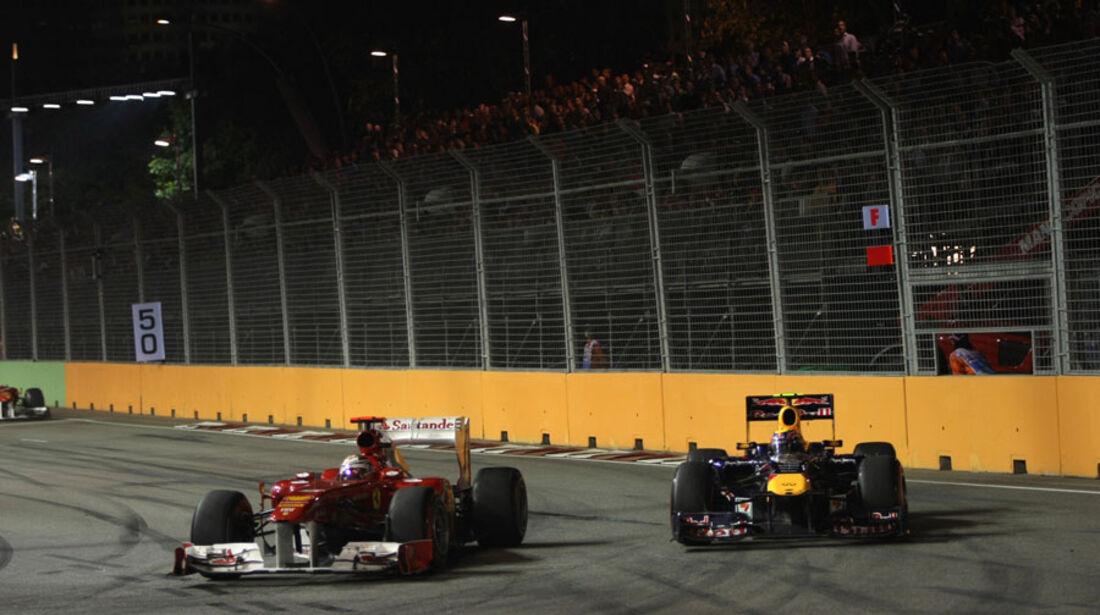 Alonso Webber GP Singapur 2011