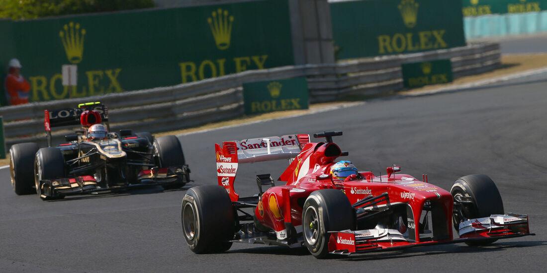 Alonso vs. Grosjean - Formel 1 - GP Ungarn 2013