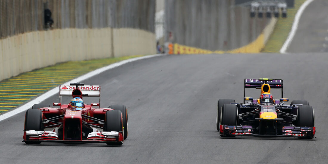 Alonso vs. Webber - GP Brasilien 2013