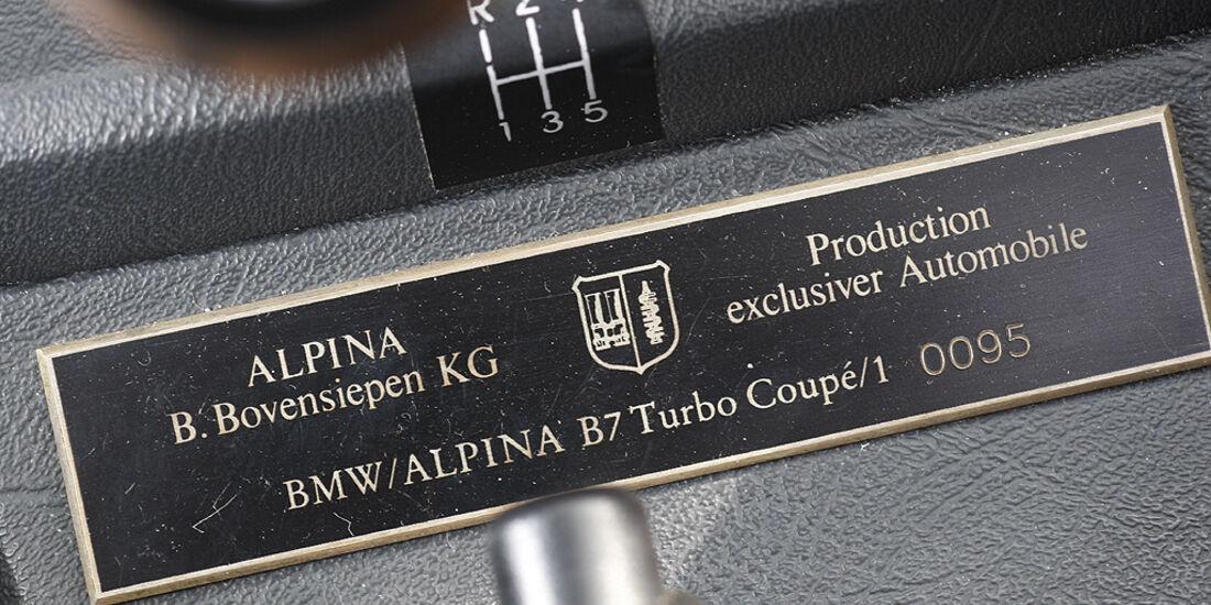 Alpina-Plakette im BMW Alpina B7