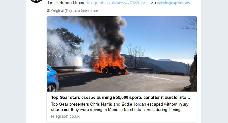 Alpine Feuer Top Gear Twitter