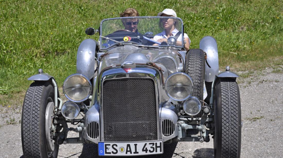 Alvis Special 4,3 Litre bei der Silvretta Classic 2010 - Klaus-Hermann und Tessa Meyer