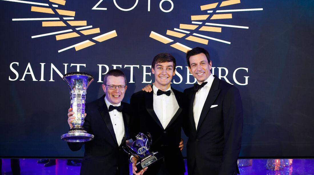 Andy Cowell - George Russell - Toto Wolff - FIA - Preisverleihung - St. Petersburg