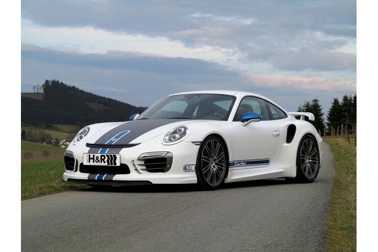 Anzeige, H&R Porsche 911 Turbo Typ 991