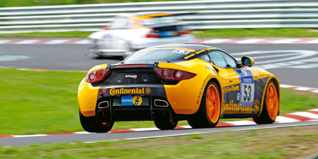 Artega GT mit ContiForceContact, Nürburgring, Heck, Rückansicht