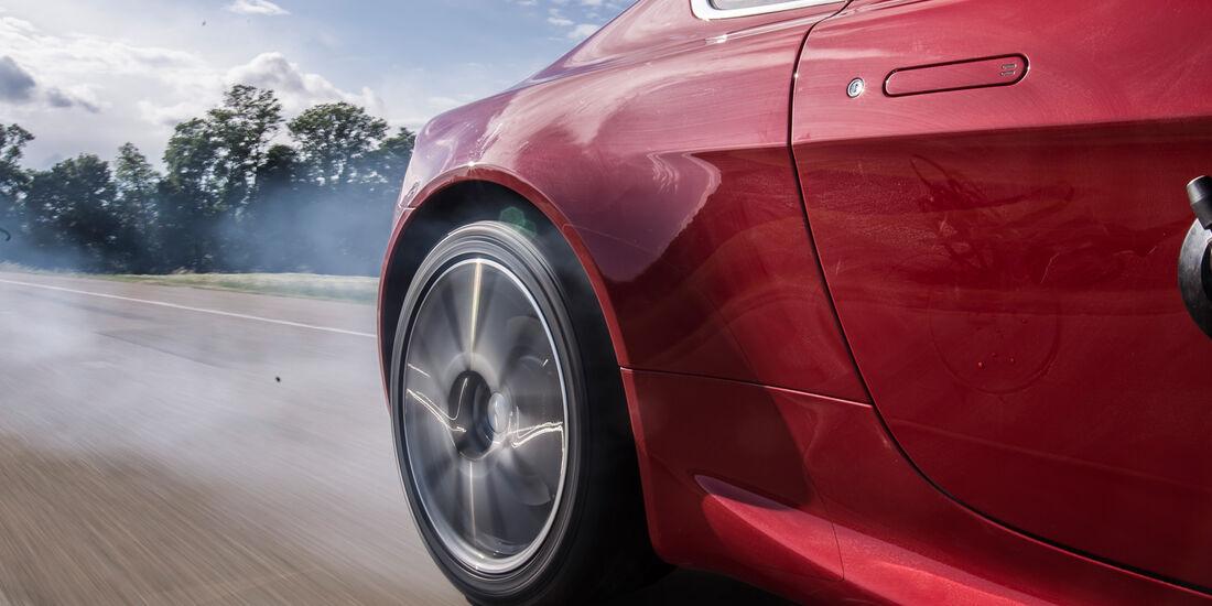 Aston Martin V8 Vantage, Heckreifen