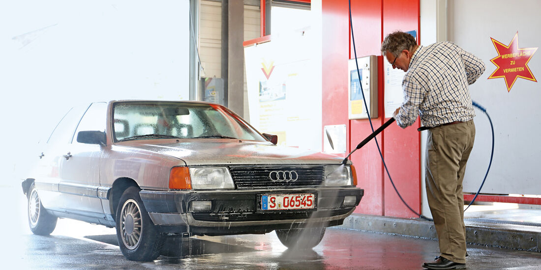 Audi 100 CS, Typ 44, Waschstrße, Alf Cremers