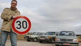 Audi 80 1.6 GL, Mercedes-Benz 300 TD, Opel Senator A 2.8 S Automatik