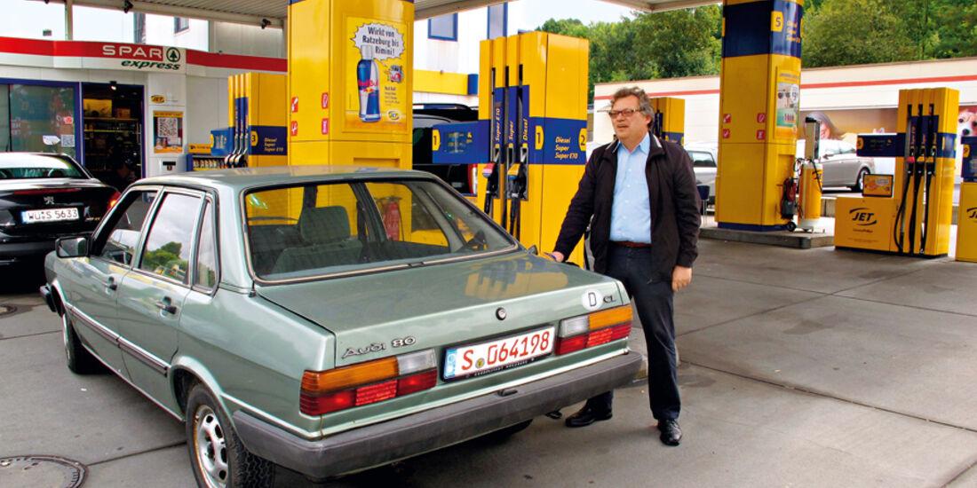Audi 80, Tankstelle, Alf Cremers