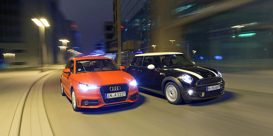 Audi A1, Mini Cooper S