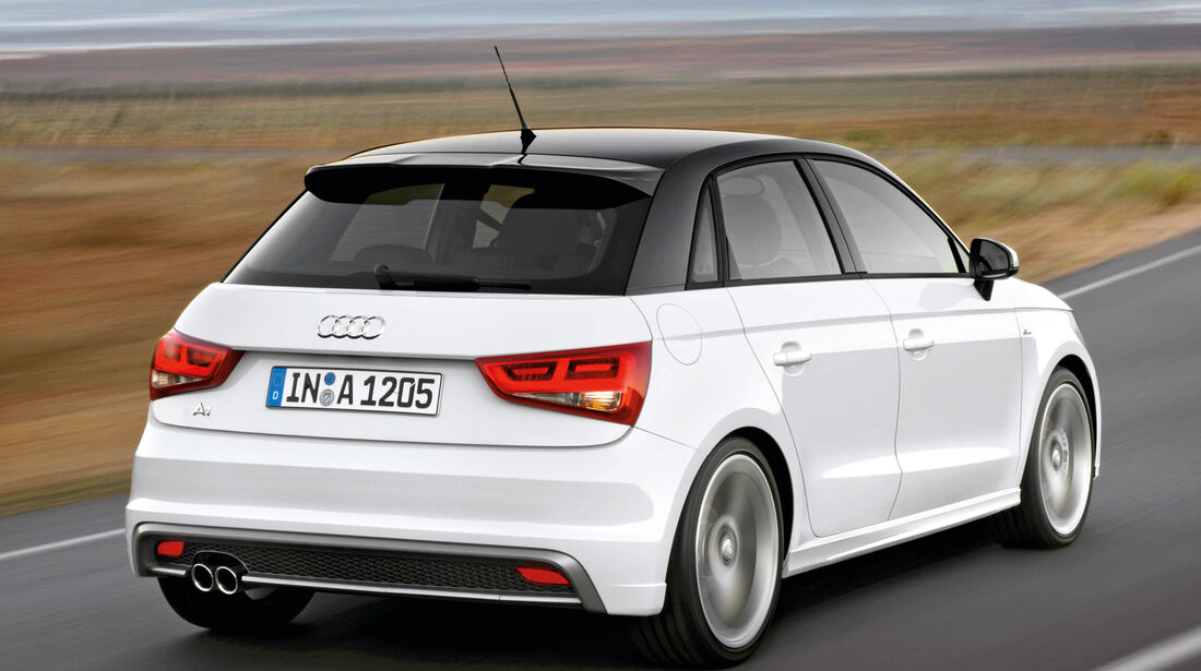 Audi A1 Sportback 1.4 TFSI, Heckansicht