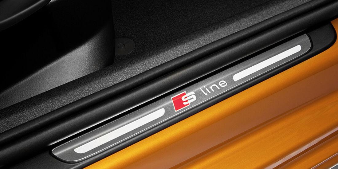 Audi A1 Sportback, Einstiegsleiste Schriftzug S-Line