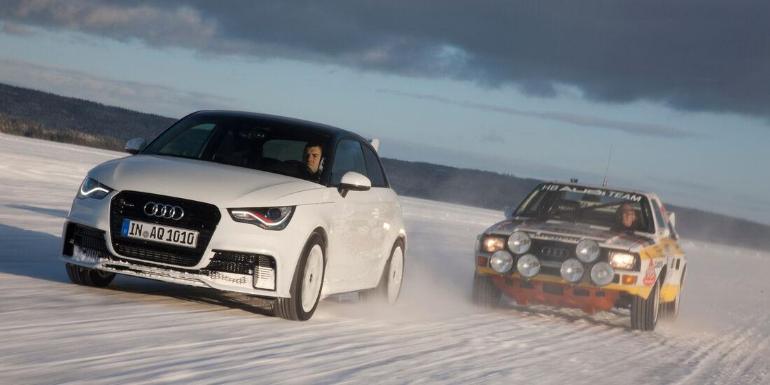 Audi A1 quattro, Front, Vergleichsmodell