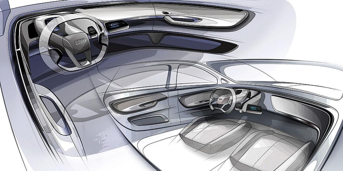 Audi A2 Concept, Innenraum