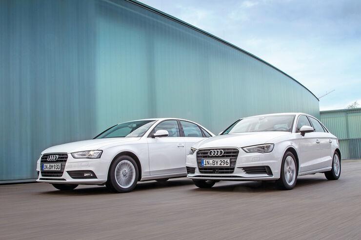 Audi A3 2.0 TDI, Audi A4 2.0 TDI, Frontansicht