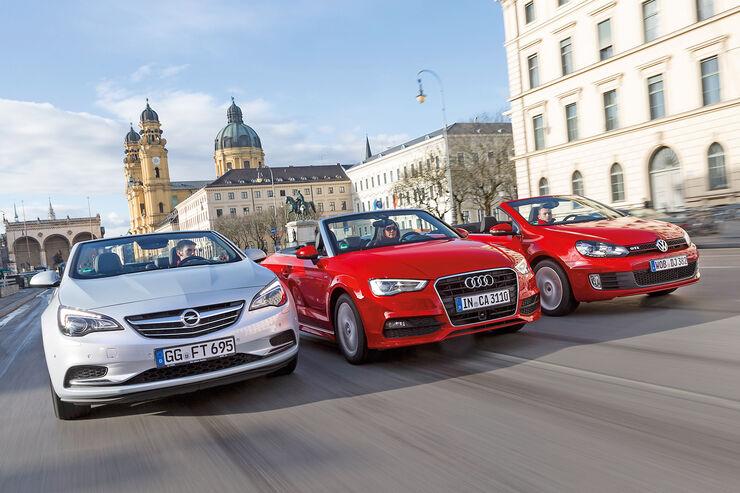 Audi A3 Cabrio, Opel Cascada, VW Golf Cabrio, Frontansicht