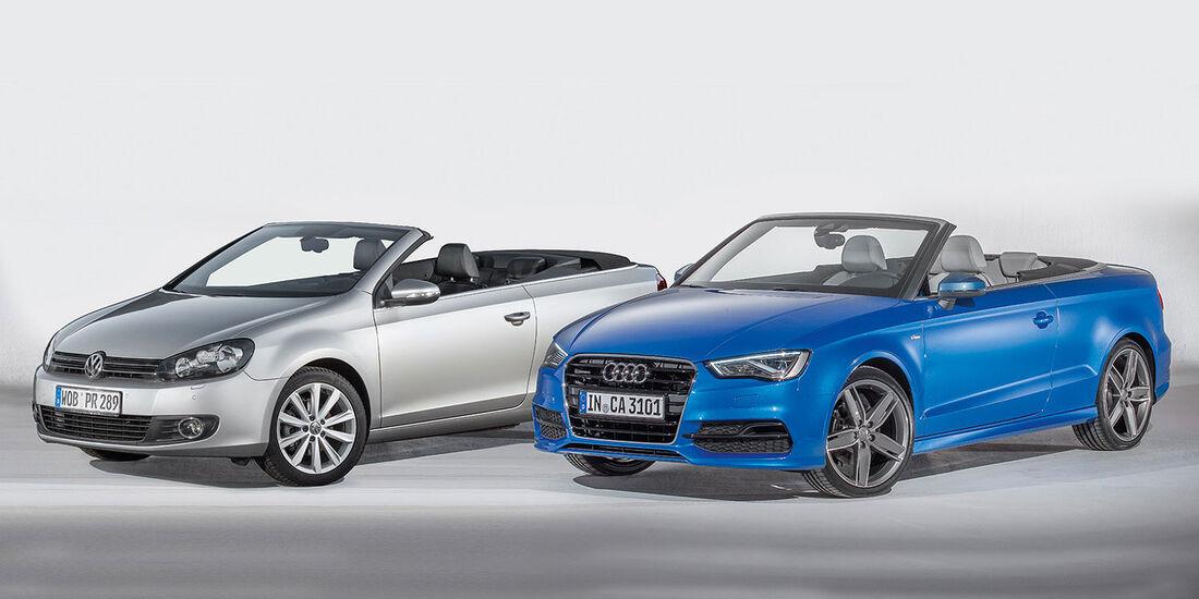 Audi A3 Cabrio, VW Golf Cabrio, Frontansicht