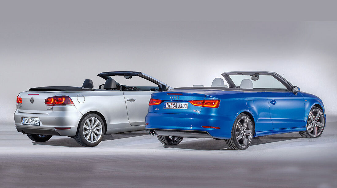 Audi A3 Cabrio, VW Golf Cabrio, Heckansicht