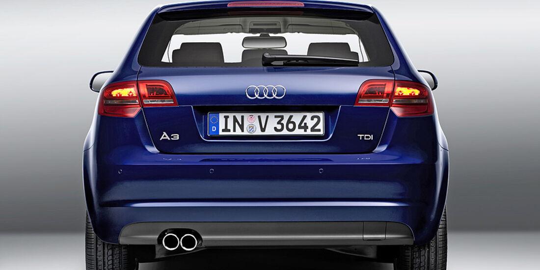 Audi A3, Facelift, Heckansicht