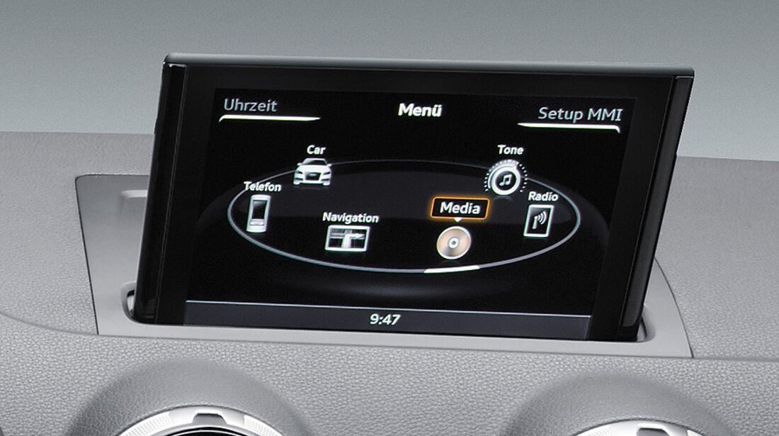 Audi A3 Innenraum, Display