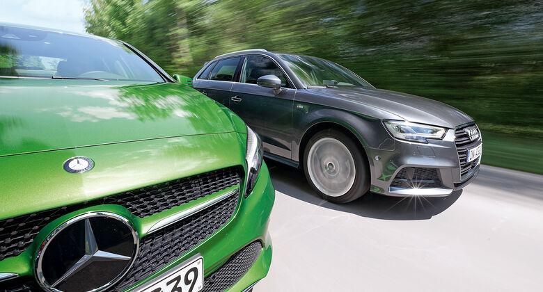 Audi A3, Mercedes A-Klasse, Kühlerhaube