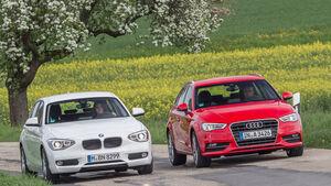 Audi A3 Sportback 1.6 TDI, BMW 114d, Frontansicht