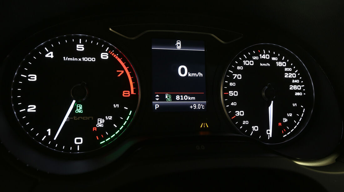 Audi A3 Sportback g-tron, Rundinstrumente