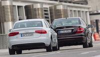 Audi A4 1.8 TFSI, Mercedes C 200, Heck