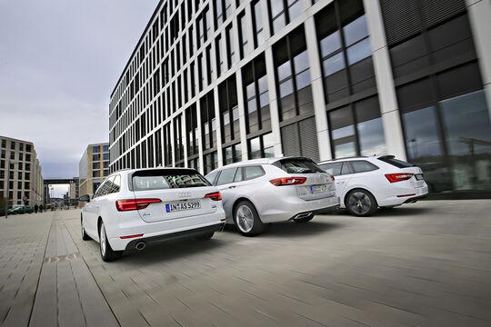 Audi A4 AV 2.0 TFSI Quattro, Opel Insignia Sports T. 2.0 DI, Skoda Superb Combi 2.0 TSI 4x4, Exterieur