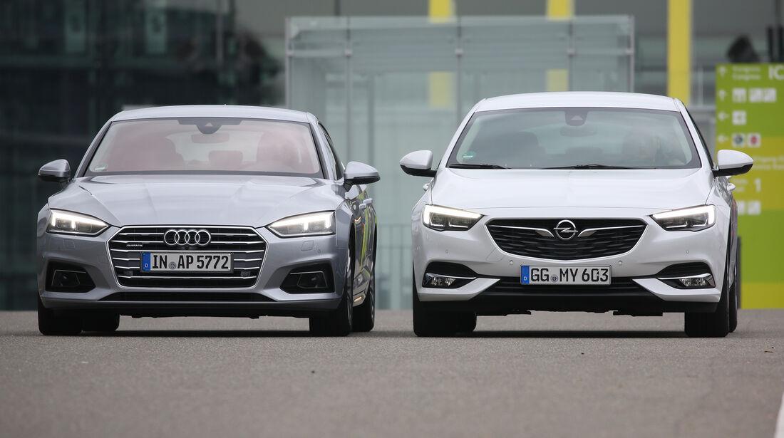 Audi A5 Sportback 40 TDI Quattro Sport, Opel Insignia Grand Sport 2.0 BiTurbo Diesel 4x4 Business Innovation, Exterieur
