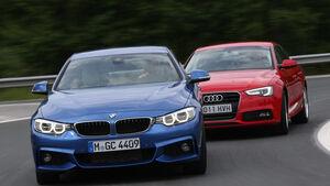 Audi A5 Sportback, BMW Vierer Gran Coupé, Frontansicht
