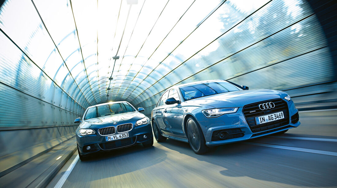 Audi A6 3.0 TDI Competition, BMW 535d, Frontansicht