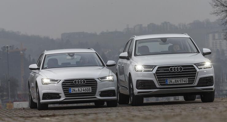 Audi A6 Avant 3 0 Tdi Und Audi Q7 3 0 Tdi Im Vergleich Auto Motor