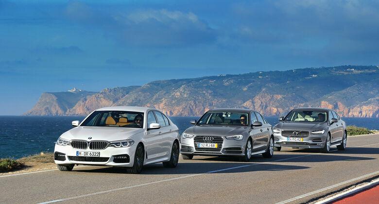 Audi A6, BMW Fünfer, Volvo S90