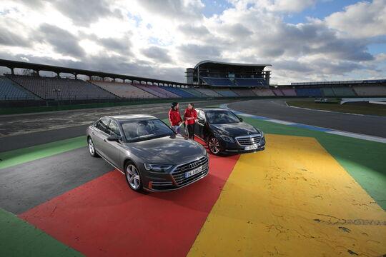 Audi A8 50 TDI Quattro, Mercedes S 350 d 4Matic, Exterieur