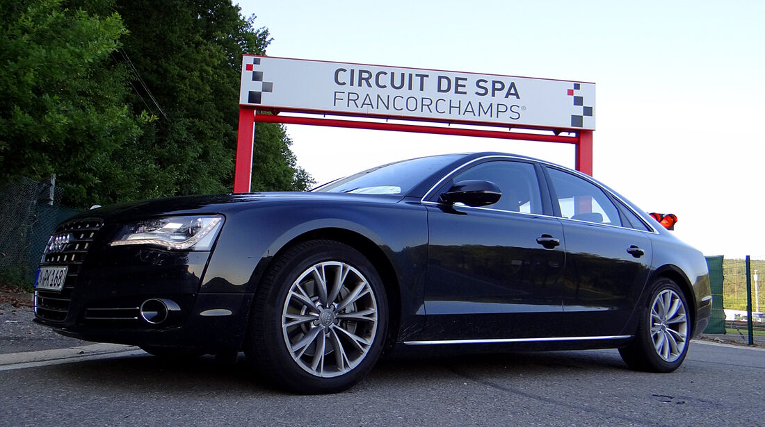 Audi A8 Dauertest GP Belgien 2013