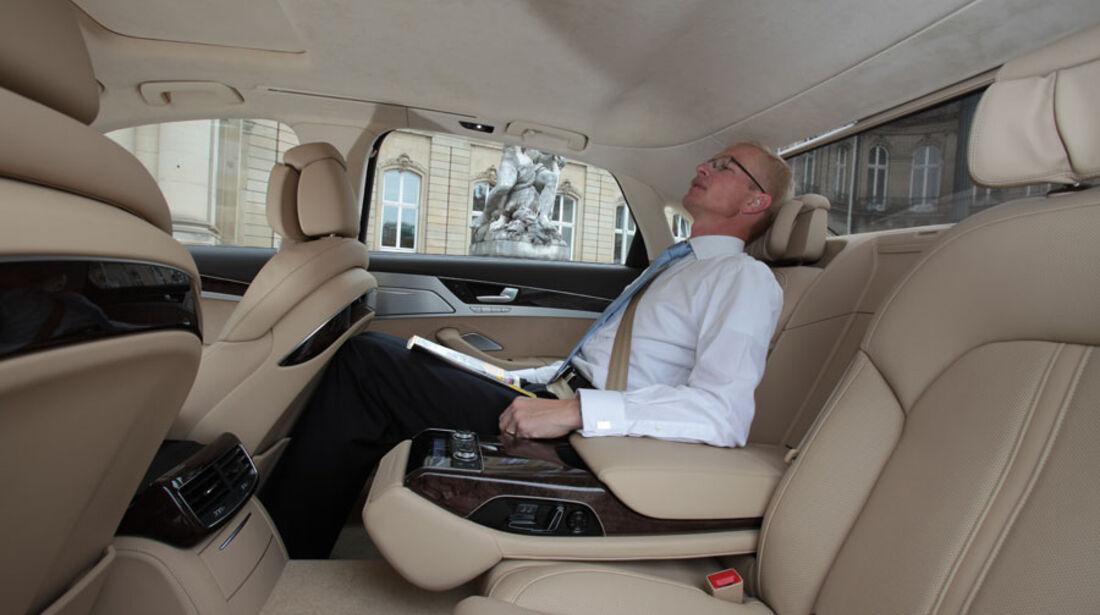 Audi A8, Fond, Innenraum, Einzelsitze