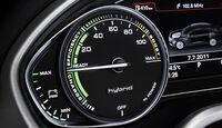Audi A8 Hybrid, Cockpit, Anzeige