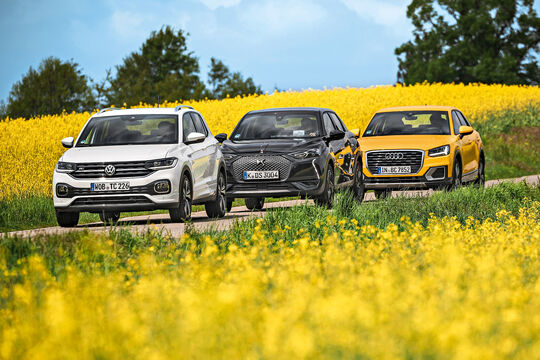Audi Q2, DS 3 Crossback, VW T-Cross, Exterieur