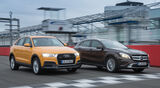 Audi Q3 2.0 TDI Quattro, Mercedes GLA 220 CDI 4Matic, Frontansicht