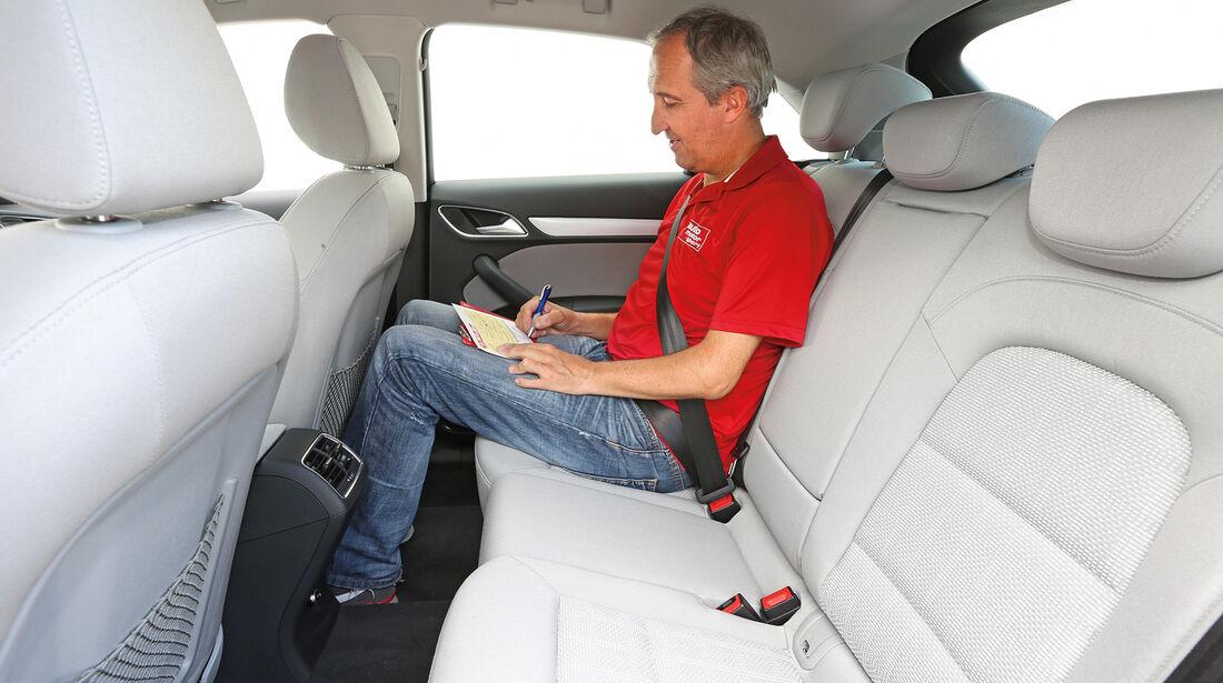 Audi Q3 2.0 TFSI Quattro, Fondsitz, Beinfreiheit