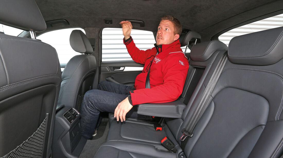 Audi Q5, Rücksitz, Beinfreiheit