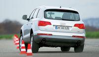 Audi Q7 4.2 Heckansicht silber metallic