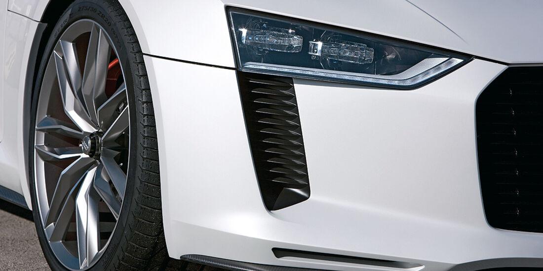 Audi Quattro Concept, Frontschürze, Scheinwerfer