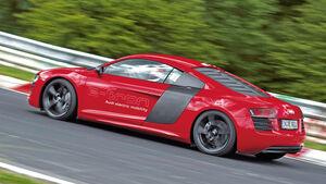 Audi R8 E-Tron, Seitenansicht