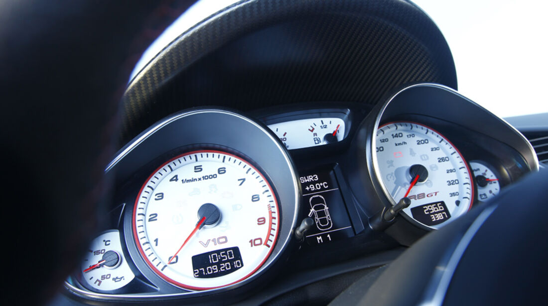 Audi R8 GT, Instrumentenbrett