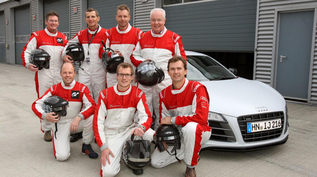 Audi R8, Renndress, Crew