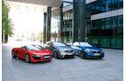 Audi R8 Spyder 4.2 FSI Quattro, Mercedes C63 AMG T-Modell, BMW M5