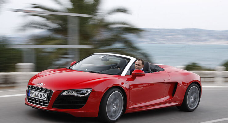 audi r8 spyder 5 2 fsi quattro wie viel sportwagen steckt. Black Bedroom Furniture Sets. Home Design Ideas